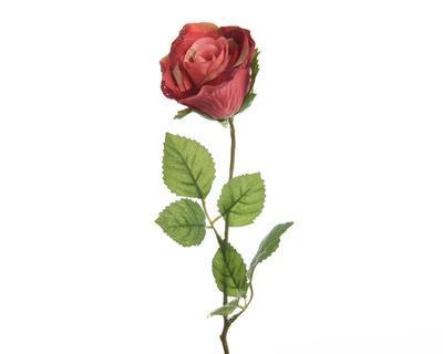 Květina RŮŽE POUPĚ 45 cm - korálová, Kaemingk