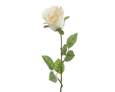Květina RŮŽE POUPĚ 45 cm - bílá, Kaemingk