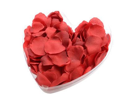 Dekorace - Plátky růží červené 16x4 cm, Kaemingk