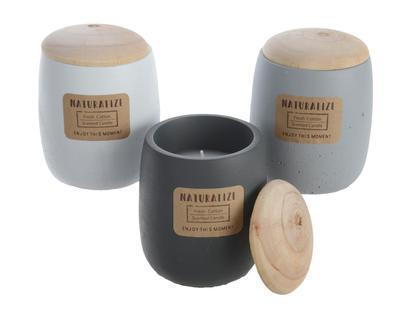 Svíčka v dóze NATURALIZE 9x11 cm - Fresh Cotton, Kaemingk