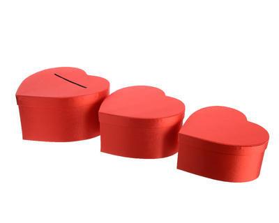 Set - krabičky SRDCE 3 ks, Kaemingk