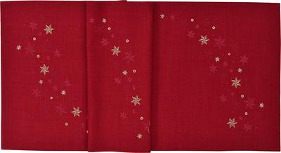 Vánoční ubrus STARFLAKE 85x85 cm - vínová, Sander