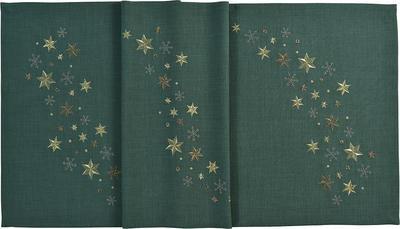 Vánoční ubrus STARFLAKE 85x85 cm - zelená, Sander