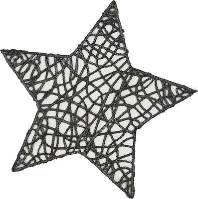 Vánoční prostírka hvězda STRING 27 cm - grafit, Sander
