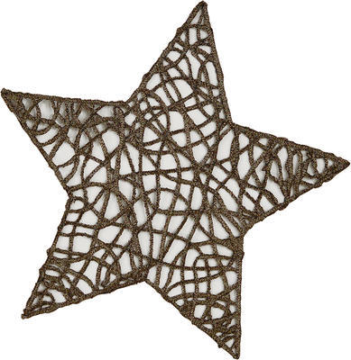Vánoční prostírka hvězda STRING 27 cm - khaki, Sander