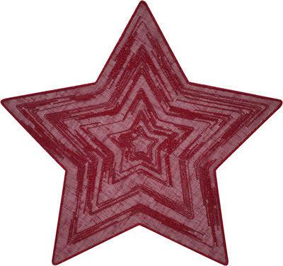 Vánoční prostírka hvězda SOLA 28 cm - vínová, Sander