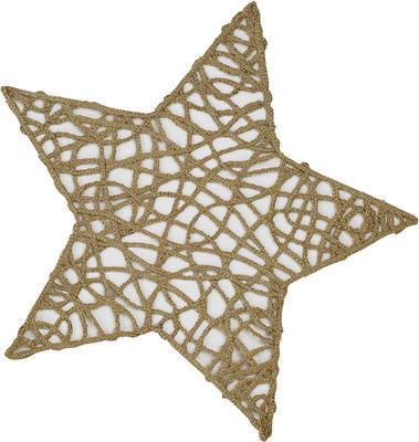 Vánoční prostírka hvězda STRING 27 cm - zlatá, Sander