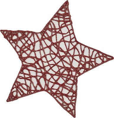 Vánoční prostírka hvězda STRING 27 cm - vínová, Sander
