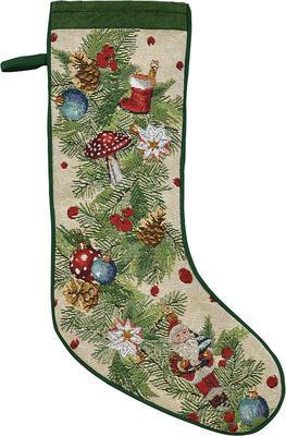 Vánoční punčocha AROUND THE TREE 21x48 cm - original, Sander