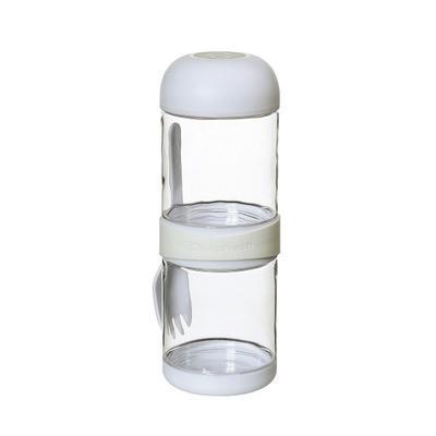 Box svačinový s vidličkou TO GO 2x330 ml - bílý, Cilio