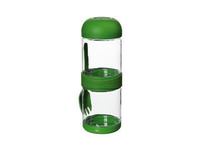 Box svačinový s vidličkou TO GO 2x330 ml - zelený, Cilio