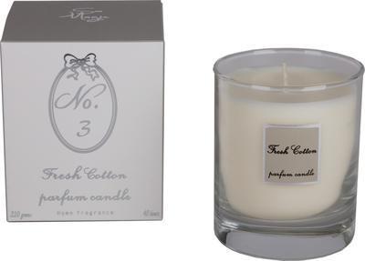 Svíčka vonná - Fresh Cotton No.3 - 210 g, Wittkemper
