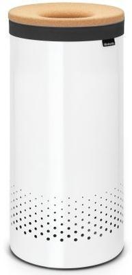 Koš na prádlo KORKOVÉ VÍKO 35 l - bílá, Brabantia