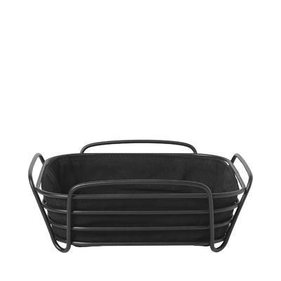 Košík na pečivo DELARA 25x25 cm - černá, Blomus
