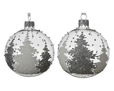 Vánoční ozdoba STROMĚČKY, 8cm, 2 druhy, Kaemingk