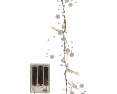 LED girlanda s kuličkami, 120cm, bílá, Kaemingk