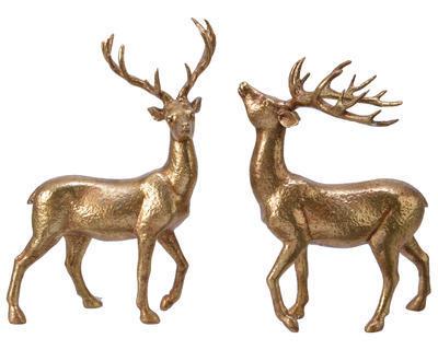 Dekorace JELEN, zlatý, 2 druhy, Kaemingk