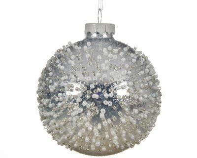 SET vánočních ozdob, 8cm, zimní bílá, Kaemingk