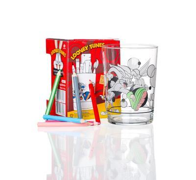 Set - Sklenička/pastelky BUGS BUNNY 510 ml, R & B