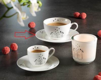 Podšálek na kávu LOVEBIRDS 15 cm, R & B