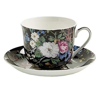 Šálek a podšálek cappuccino W. KILBURN 480 ml - Midnight Blossom, Maxwell & Williams