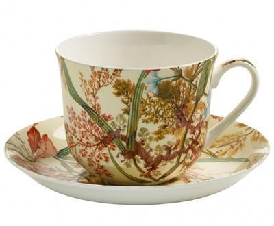 Šálek a podšálek cappuccino W. KILBURN 480 ml - Cottage Blossom, Maxwell & Williams