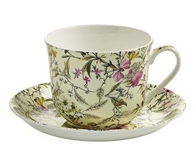 Šálek a podšálek cappuccino W. KILBURN 480 ml - Summer Blossom, Maxwell & Williams