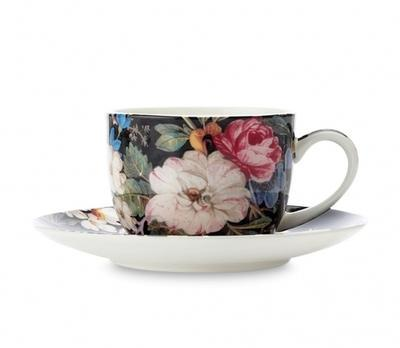 Šálek a podšálek espresso W. KILBURN 100 ml - Midnight Blossom, Maxwell & Williams