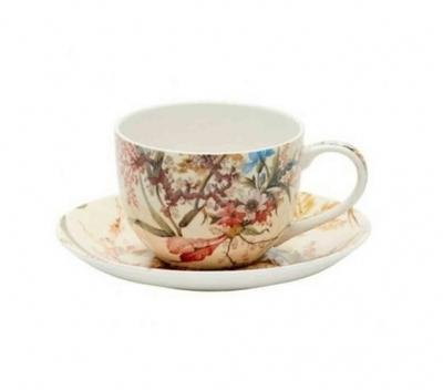 Šálek a podšálek espresso W. KILBURN 100 ml - Cottage Blossom, Maxwell & Williams