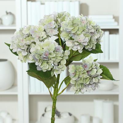 Květina HORTENZIE 60 cm - levandulová/zelená, DPI