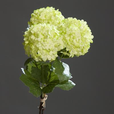 Květina HORTENZIE SVAZEK 3 ks, 31 cm - zelená, DPI