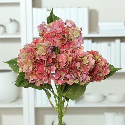 Květina HORTENZIE 60 cm - fialová/zelená, DPI
