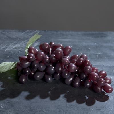 Dekorace - ovoce HROZNOVÉ VÍNO 25 cm - tmavé, DPI