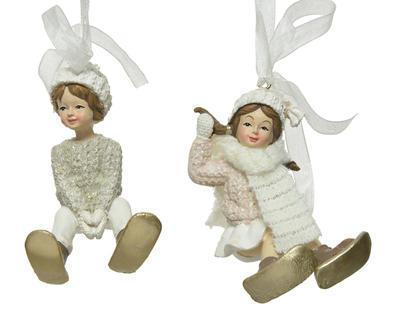 Vánoční ozdoba DĚTI, chlapec/ dívka, Kaemingk