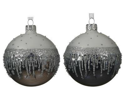 Vánoční ozdoba, 8cm, 2 druhy, Kaemingk
