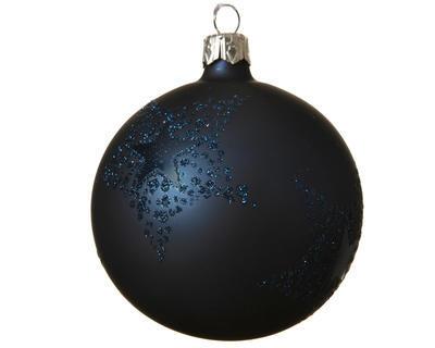 Vánoční ozdoba s hvězdou, 8 cm, modrá, Kaemingk