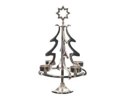 Adventní svícen STROMEK na čajové svíčky, 22x36cm, Kaemingk