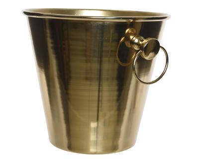 Vánoční stolování - Chladící nádoba na šampaňské - zlatá, Kaemingk