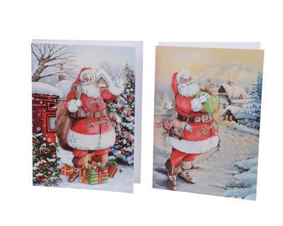 Vánoční přání - SANTA - 14,5x20cm, Kaemingk