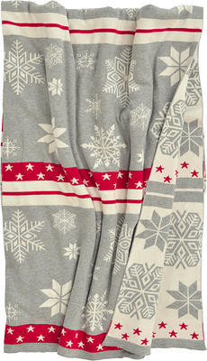 Vánoční pléd LAHOLM 125x150 cm - stříbrná, Sander