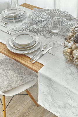 Vánoční ubrus CRISTALLO 150x250 - silber, Sander