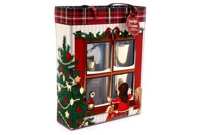 Vánoční dárkový set WAITING FOR SANTA, difuzér + svícny, 26x20cm, Sifcon