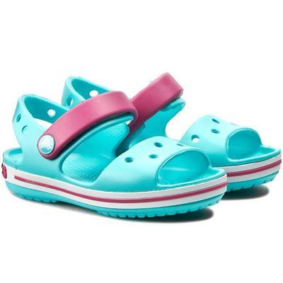 Sandály CROCBAND SANDAL KIDS C4 candy pink/pool, Crocs