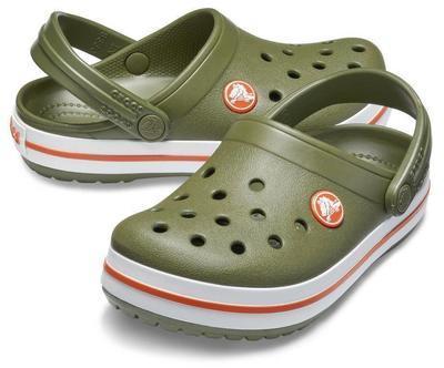 Boty CROCBAND CLOG KIDS J2 army green/burnt sienna, Crocs