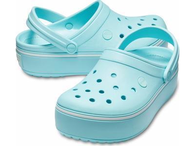 Boty CROCBAND PLATFORM CLOG M8/W10 ice blue/ice blue, Crocs