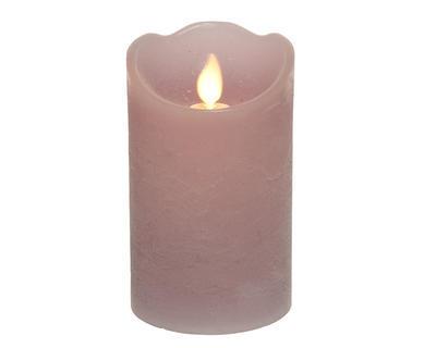 Povoskovaná svíčka na baterie, lila, 12,5cm, interiér, Kaemingk