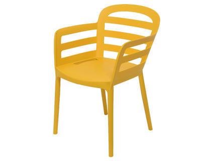 Stohovací židle BOSTON, 56,5x59x81cm, žlutá, venkovní, Kaemingk