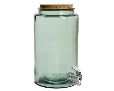 Demižón s kohoutkem - recyklované sklo, 18x30cm, Kaemingk