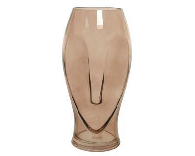 Váza LONG FACE, 16x16x30cm, sklo, Kaemingk