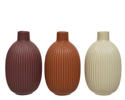 Váza, 18,2cm, 3 druhy, porcelán, Kaemingk